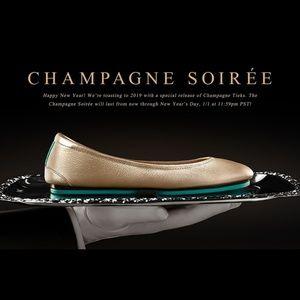 Limited Edition BNIB Champagne Tieks 🍾 size 6
